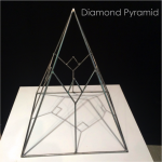 The Diamond Pyramid-Metal Art