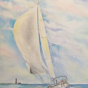 Sailing to Cape Lookout by Carolyn Bell