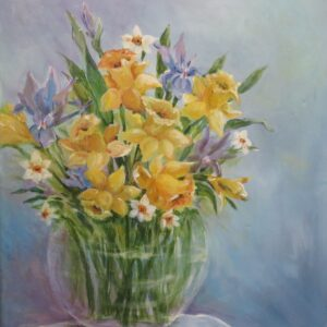 Vase of Daffodils by Carolyn Bell