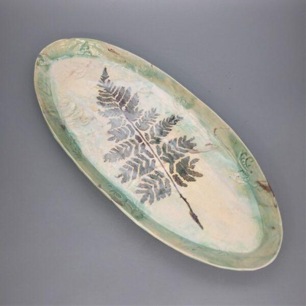 Fern Platter Pottery by Deb Barnett
