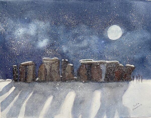 Stonehenge Snowstrom by Dottie Blanchard
