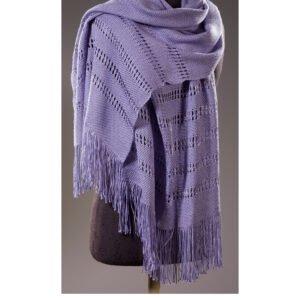 Lavender Silk Shawl by Jean Kaplan