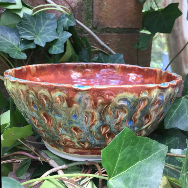 arved Peacock Bowl by Marthsa Sink