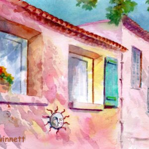 Provence France Shadows by Kathleen Gwinnett