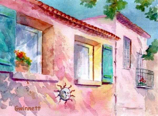 Provence France Shadows by Kathleen Gwinnett